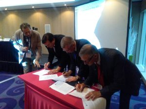 AAATE signing the MoU for the ENTELIS Network