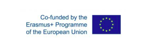 Picture of EU flag and text reading: Co-funded by the Erasmus+ Programme of the European Union